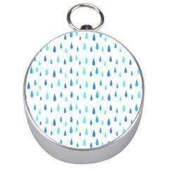 Water Rain Blue Silver Compasses