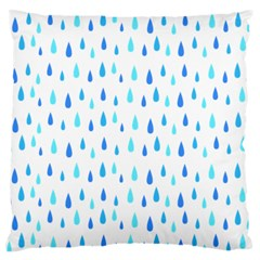 Water Rain Blue Large Flano Cushion Case (Two Sides)