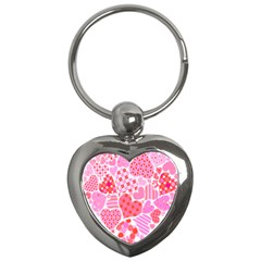 Valentines Day Pink Heart Love Key Chains (heart)