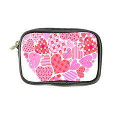Valentines Day Pink Heart Love Coin Purse