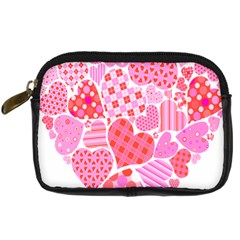 Valentines Day Pink Heart Love Digital Camera Cases