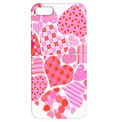 Valentines Day Pink Heart Love Apple iPhone 5 Hardshell Case with Stand