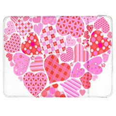 Valentines Day Pink Heart Love Samsung Galaxy Tab 7  P1000 Flip Case