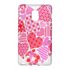 Valentines Day Pink Heart Love Galaxy Note Edge