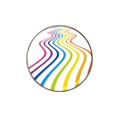 Wave Rainbow Hat Clip Ball Marker (4 pack)
