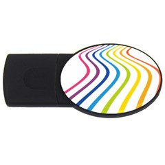 Wave Rainbow Usb Flash Drive Oval (4 Gb)