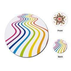 Wave Rainbow Playing Cards (round)