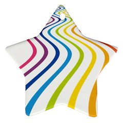 Wave Rainbow Star Ornament (two Sides)