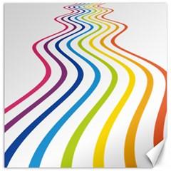 Wave Rainbow Canvas 16  x 16