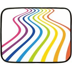Wave Rainbow Fleece Blanket (Mini)