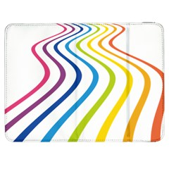 Wave Rainbow Samsung Galaxy Tab 7  P1000 Flip Case