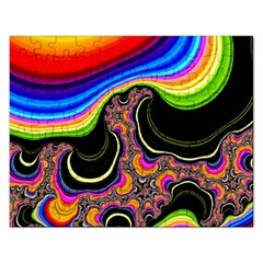Wave Color Rectangular Jigsaw Puzzl