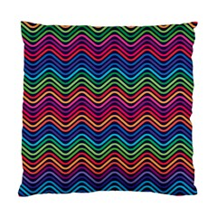 Wave Chevron Rainbow Color Standard Cushion Case (two Sides)