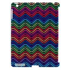 Wave Chevron Rainbow Color Apple Ipad 3/4 Hardshell Case (compatible With Smart Cover)