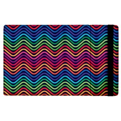 Wave Chevron Rainbow Color Apple Ipad 3/4 Flip Case