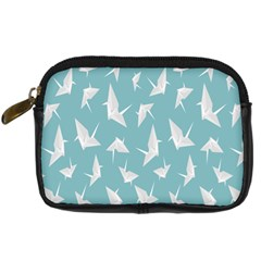 Origamim Paper Bird Blue Fly Digital Camera Cases