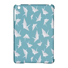 Origamim Paper Bird Blue Fly Apple iPad Mini Hardshell Case (Compatible with Smart Cover)