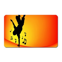 Breakdancer Dancing Orange Magnet (rectangular)
