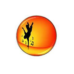 Breakdancer Dancing Orange Hat Clip Ball Marker (10 Pack)