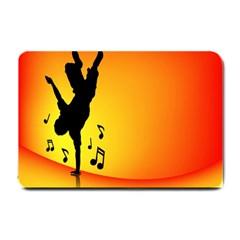Breakdancer Dancing Orange Small Doormat