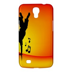 Breakdancer Dancing Orange Samsung Galaxy Mega 6.3  I9200 Hardshell Case
