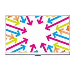 Arrows Pink Blue Orange Green Business Card Holders
