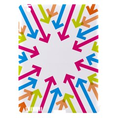 Arrows Pink Blue Orange Green Apple iPad 3/4 Hardshell Case (Compatible with Smart Cover)