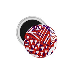 Bright  Memphis Purple Triangle 1 75  Magnets