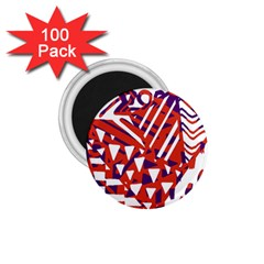Bright  Memphis Purple Triangle 1 75  Magnets (100 Pack)