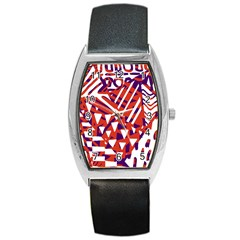Bright  Memphis Purple Triangle Barrel Style Metal Watch