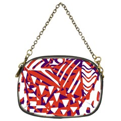 Bright  Memphis Purple Triangle Chain Purses (two Sides)