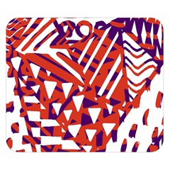 Bright  Memphis Purple Triangle Double Sided Flano Blanket (Small)