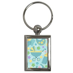Baby Stroller Star Blue Key Chains (rectangle)