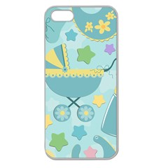 Baby Stroller Star Blue Apple Seamless iPhone 5 Case (Clear)