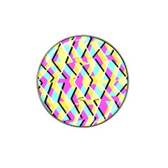 Bright Zig Zag Scribble Yellow Pink Hat Clip Ball Marker (10 Pack)