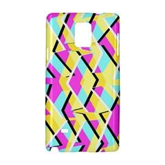 Bright Zig Zag Scribble Yellow Pink Samsung Galaxy Note 4 Hardshell Case