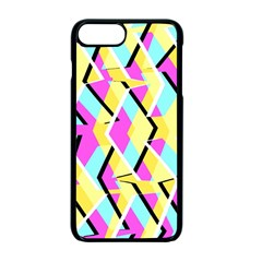 Bright Zig Zag Scribble Yellow Pink Apple Iphone 7 Plus Seamless Case (black)