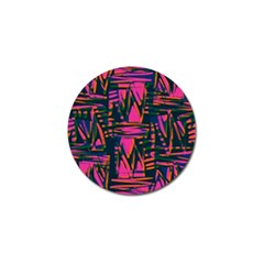Bright Zig Zag Scribble Pink Green Golf Ball Marker (4 Pack)