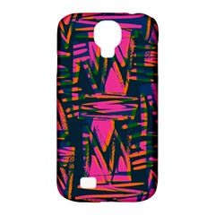 Bright Zig Zag Scribble Pink Green Samsung Galaxy S4 Classic Hardshell Case (PC+Silicone)