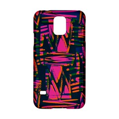 Bright Zig Zag Scribble Pink Green Samsung Galaxy S5 Hardshell Case