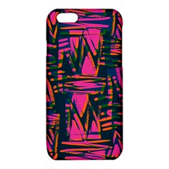 Bright Zig Zag Scribble Pink Green iPhone 6/6S TPU Case