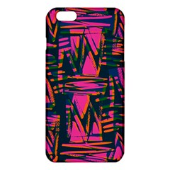 Bright Zig Zag Scribble Pink Green iPhone 6 Plus/6S Plus TPU Case