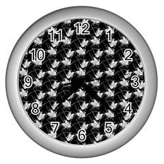 Butterfly Black Wall Clocks (silver)