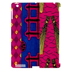 Broom Stick Gold Yellow Pink Blue Plaid Apple iPad 3/4 Hardshell Case (Compatible with Smart Cover)