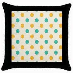 Circle Blue Orange Throw Pillow Case (Black)
