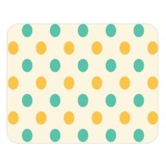 Circle Blue Orange Double Sided Flano Blanket (large)