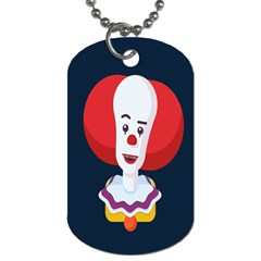 Clown Face Red Yellow Feat Mask Kids Dog Tag (one Side)