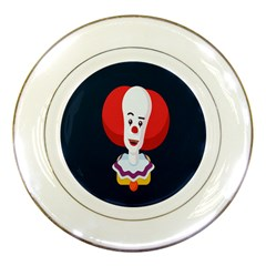 Clown Face Red Yellow Feat Mask Kids Porcelain Plates