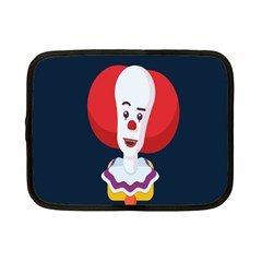 Clown Face Red Yellow Feat Mask Kids Netbook Case (small)