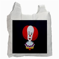 Clown Face Red Yellow Feat Mask Kids Recycle Bag (Two Side)